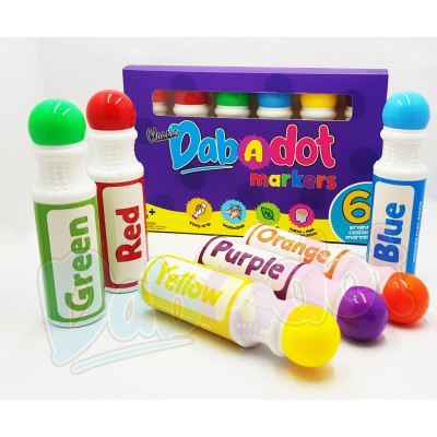 [Designed in Malaysia] DAB-A-DOT | Classic Dot Art Washable Markers | FREE PDF Printables