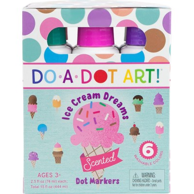 Scented Ice Cream 6 Pack Dot Markers