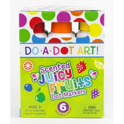 Scented Juicy Fruits 6 Pack Dot Markers