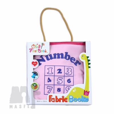 Fabric Book - Numbers 1 to 10 (Pink)
