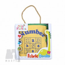 Fabric Book - Numbers 1 to 10 (Yellow)